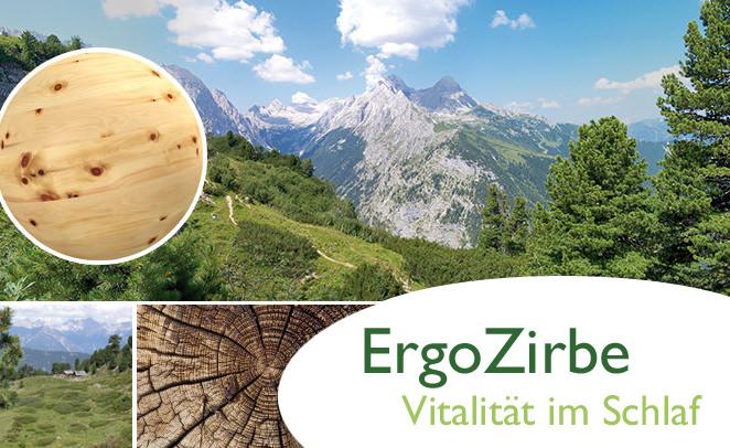 ErgoZirbe Zirbenholz Unterfederung Lattenroste